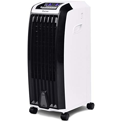ARLIME Evaporative Cooler, 4-in-1 Cooling, Fan, Humidifier and Anion, with 3 Wind Modes, 3 Speeds, 6.5H Timer, Portable air cooler with Remote, Built-in Handle, 4 Wheels for Home, Office