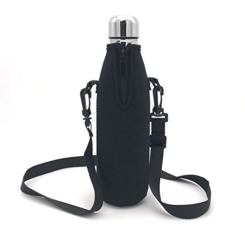 Wommty Neoprene 20Oz(480ml) Insulated Water Drink Bottle Cooler Bottle Carrier Bottle Sleeve Tote Bag with Carrying Strap for Climbing Cycling and Running Outdoor Activities (Style 3)