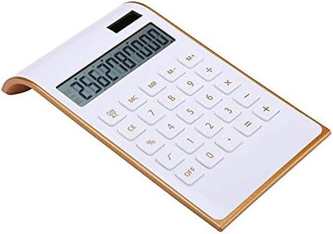 YAYA2021-SHOP Desk Calculator Desk Calculator, 10-Digit Office Calculator with Large LCD Display Big Sensitive Button,Dual Power Desktop Calculators Office calculators (Color : White)