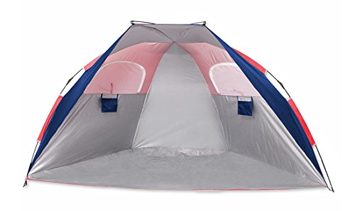 Zeckos UPF 50+ Instant Pop Up Cabana Beach & Sport Shade Shelter