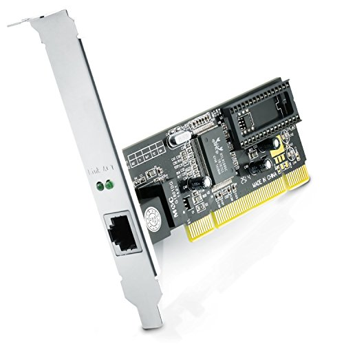 CSL - Tarjeta de Red PCI Gigabit LAN Adaptador Fast Ethernet 10 100 1000 DSL...
