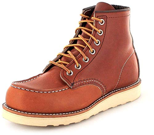 Red Wing Shoes 0875 Moc Toe Braun Schnürstiefel Work Boots