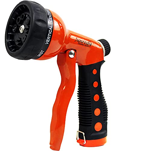 Hose Nozzle Sprayer for Garden Hose - Heavy Duty Metal Water Hose Nozzle with 8 Spray Patterns, High Pressure Hand Garden Hose Sprayer with Flow Control, Garden Hose Spray Nozzle for Hose, Car washing