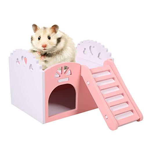 Smandy Casa del Criceto, casa degli Animali Domestici Nido di Criceto capanna di plastica per Animali Domestici Cabina per Animali Domestici(Rosa)