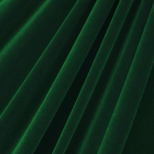 """Valentina Textile Inc Stretch Velvet Fabric is 58/60"""" inches Wide (1 Yard, Hunter Green)"""