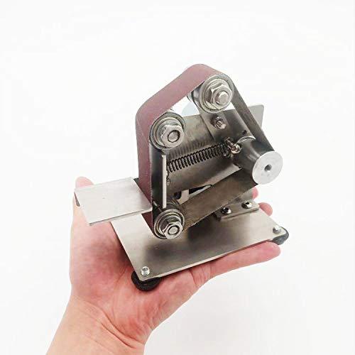 Tischbandschleifer, Mini Holzbearbeitungsschleifmaschine mit Polierfunktion, Bandschleifer für Holz, Metall, Kunststoff