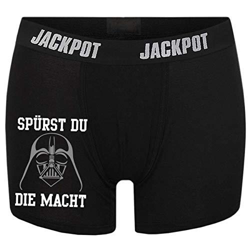 Spaß kostet Männer Boxershort mit Spruch Spürst du die Macht (Größe S bix XXXL)