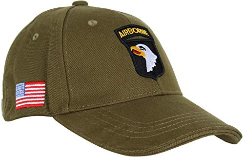 Fostex Garments - Gorra de béisbol 101st Division Airborne Screaming Eagle Paracadutisti USA