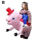earlyad Aufblasbare Kleidung, Reitschweine, lustige aufblasbare Kleidung, aufblasbare Leistungskleidung für Erwachsene Kinder