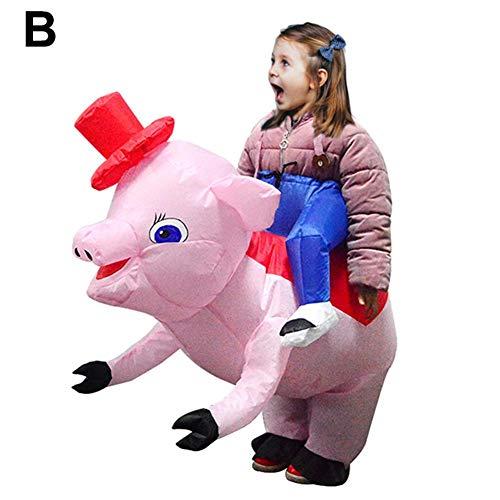 Class-Z Opblaasbaar kostuum voor Halloween, volwassenen en kinderen, cosplay, grappig dierencirkel-zwijn, kleding met handschoenen voor Pasen, Halloween, party, carnavalskostuum