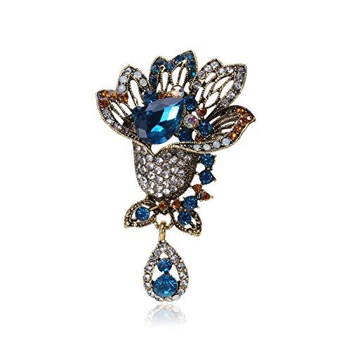YHSTG Pin De Regalo Broche De Cristal De Color Vintage De Moda para Mujer