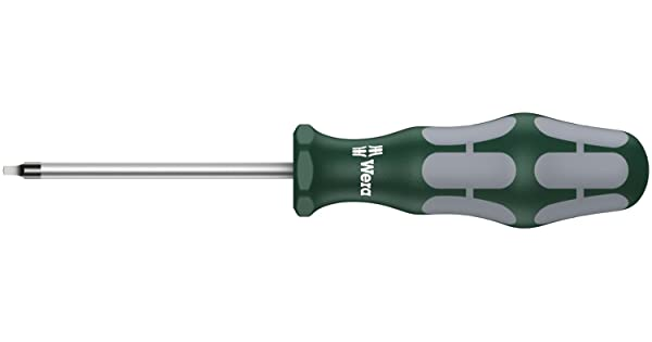 3-1//8-Inch Shaft Length Wera Kraftform Plus 368 Square Socket #1 Professional Screwdriver