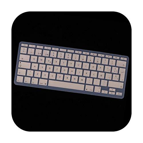 Siliconen toetsenbord bescherming, Spaans, Phonetisch, voor MacBook, 11-inch laptop, beschermfolie, zacht, touchscreen, waterdicht Goud