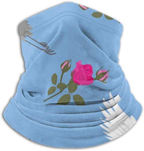 Teemoo Fleece-Nackenwärmer, multifunktionaler schöner Cranes Roses-Schal, Vollmaske oder Hut, Nackenschutz, Nackenkappe, Skimaske, Halbmaske, Gesichtsmaske, Bala