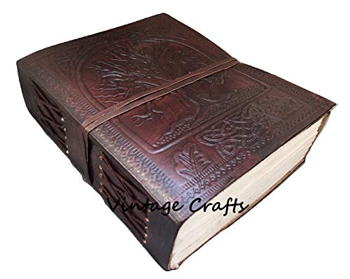 Handmade Antique Leather Tree Journal Travel Diary Writing Bound Notebook for Men & Women with Quality Unlined Papers
