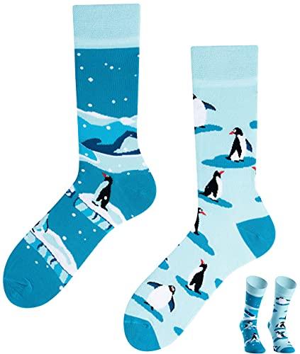 TODO Colours Lustige Socken mit Motiv - Mehrfarbige, Bunte, Verrückte für die Lebensfreude (Penguin Socken, numeric_43)