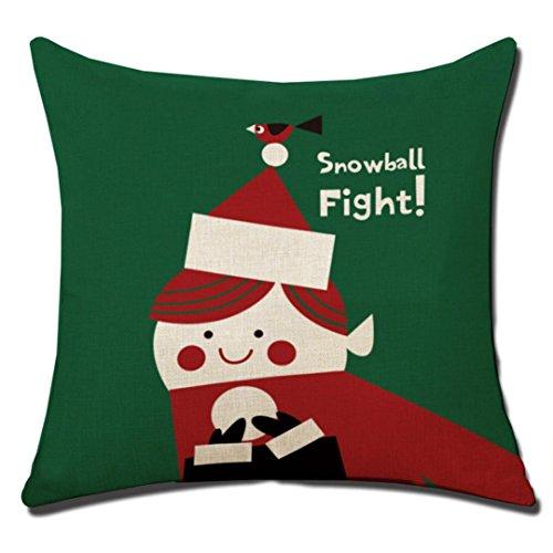 Preisvergleich Produktbild Ronamick Gedruckt Dekorative Sofa Home Auto Décor Fall Hohe Qualität Weihnachten 45 X 45 cm Super Kaschmir Baumwolle Leinen Kissenbezug (B) (F)