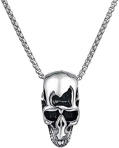 niuziyanfa Co.,ltd Collar, Collar, Punk, pequeño, cráneo, Cabeza, Colgante, Collar, Hombres, súper, Motero, Colgante, Collar, Acero Inoxidable, Collares, Hombres, joyería, Colgante, Collar