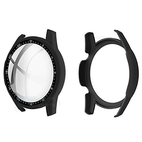Capa Case com Película de Vidro 3D compatível com Huawei Watch GT 2 46mm - Marca LTIMPORTS (Preto Fosco)