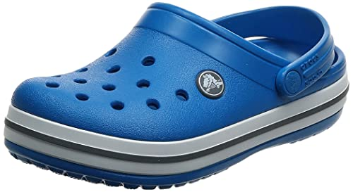 Crocs Crocband Clog Kids Unisex Niños Zuecos, Azul (Bright Cobalt/Charcoal), 30/31 EU