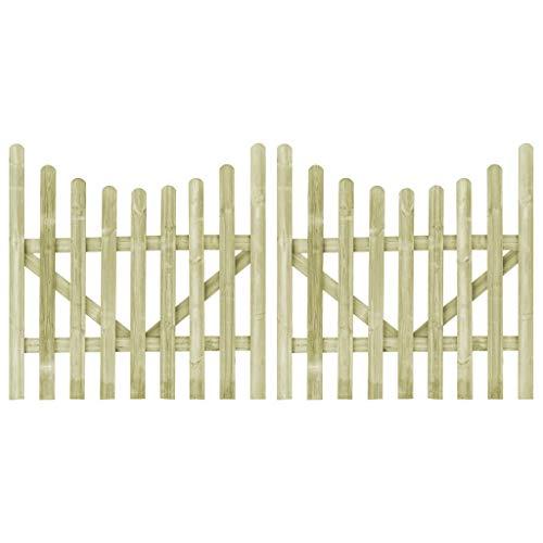 vidaXL 2x Holz Imprägniert Gartentor 150x150cm Holztor Gartentür Lattenzaun
