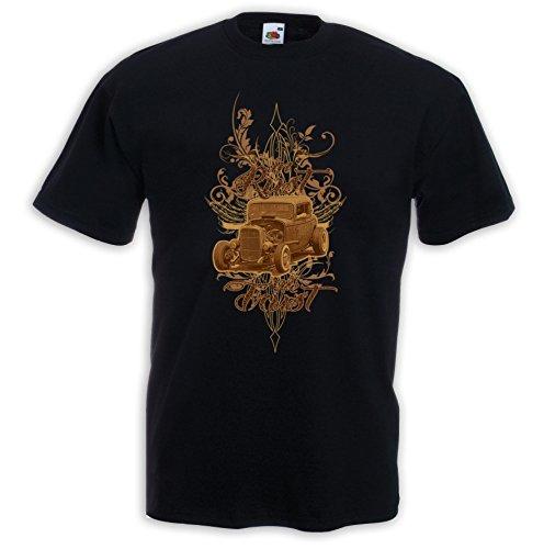 Hot Rod T-Shirt In Rust Zündkerze Rockabilly Tattoo V8 Rat Rod Gr.XL