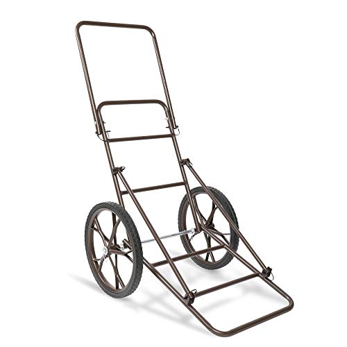 VINGLI Folding Deer Cart, 500lbs. Capacity Game Hauler Utility Gear Dolly with Wheels for Hunting