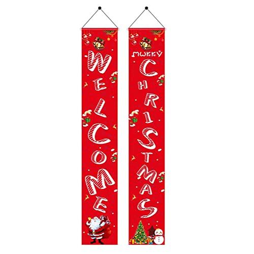 Osuner Pancartas de Feliz Navidad, Adornos navideños Colgantes Adornos navideños al Aire Libre Pareado navideño para decoración del hogar para el Patio del hogar Puerta de la Pared Decoraciones para