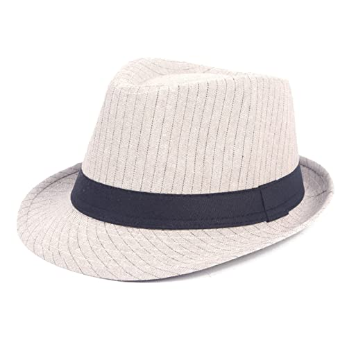 Sombrero Panamá para Hombre Mujer Gorro Jazz con ala Ancha Elegante para Adulto Sombrero Invierno Cálido, Khaki,