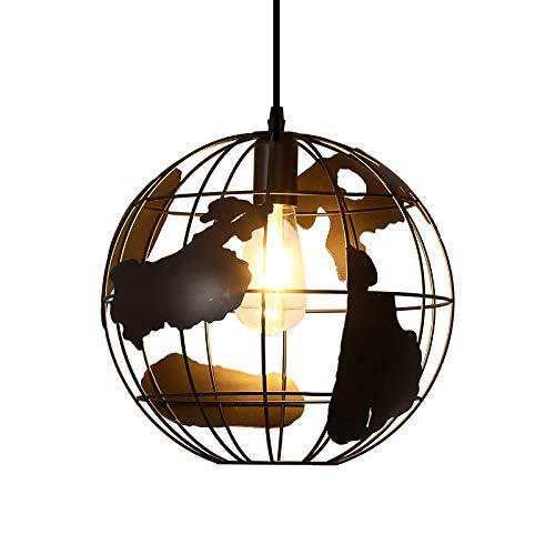 Chaozan®Schmiedeeisen Kronleuchter Kreative Kronleuchter Europäischen Modernen Minimalistischen Schlafzimmer Lampe Restaurant Globe Einkopf- Kronleuchter E27 110-240V