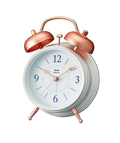 BRUNO ブルーノ カッパーツインベルクロック ホワイト 時計 置時計 目覚まし時計 目覚まし アナログ時計 お...