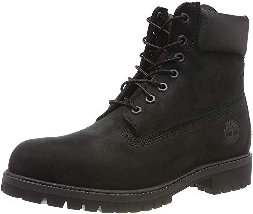 Timberland Men's 6 inch Premium Waterproof Boot, Black Nubuck, 7