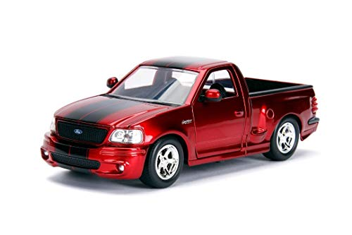 Jada 1:24 W/B - Metals - Just Trucks - 1999 Ford F-150 SVT Lightning (Candy Red)