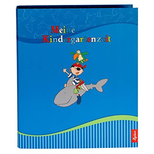 goldbuch 35446 Kindergarten Sammelordner, Sammy Samoa, A4, Mit 4 illustrierten Trennblättern, Ordner mit 5,5 cm Rückenbreite, Multifunktionsordner Kunstdruck laminiert mit UV-Lack, Blau