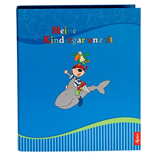 Goldbuch Kindergartensammelordner, Sammy Samoa, A4, Mit 4 illustrierten Trennblättern, 5,5 cm Rückenbreite, Kunstdruck laminiert mit UV-Lack, Blau, 35446