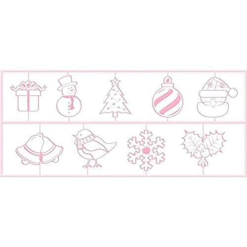 KitchenCraft Sweetly Does It Christmas 3D Embossing Cutters, Pink, 27 mm