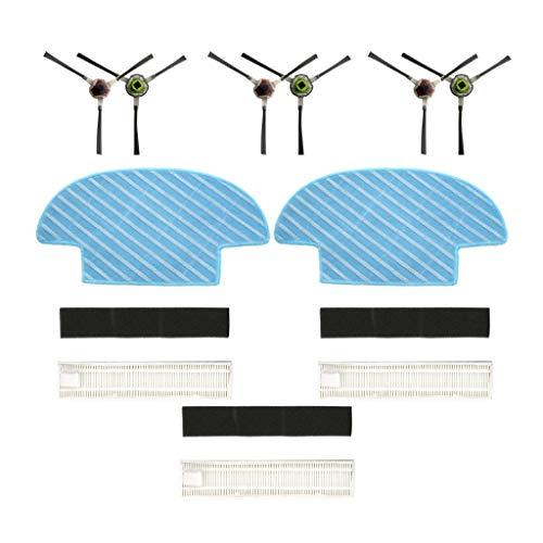 8 Teilig Für Ecovacs Slim Slim 2 Sweepers Robotic Saugroboter Ersatzteile Verschleißteile-Set Hepa Filter Seitenbürste Bürsten Mopp Tuch Set