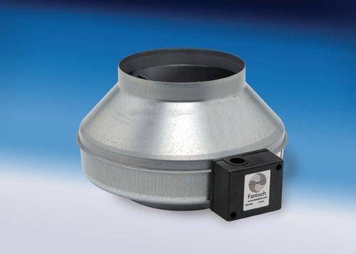 "Fantech FG 4XL Inline 4"" Centrifugal Duct Fan, Metal Housing, 170 CFM, 120V"