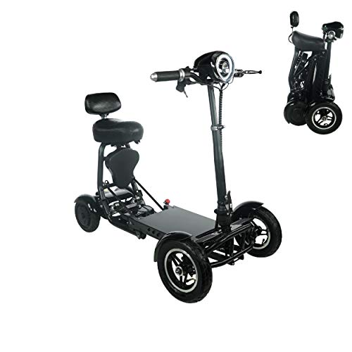 Great Deal! 2020 New Foldable Lightweight Li-on Battery Power Mobility Scooters Easy Travel Electric...