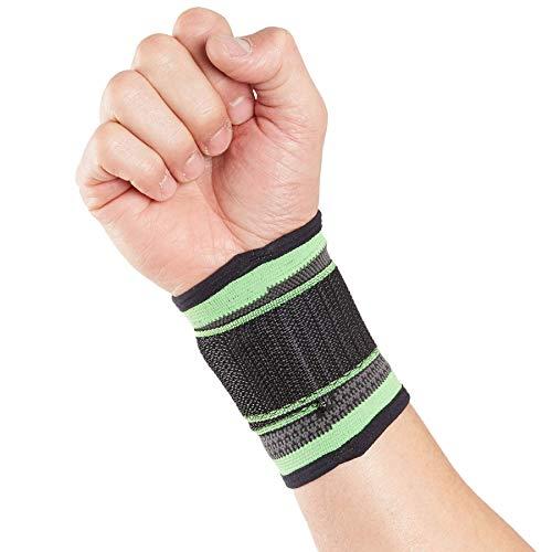 Órtesis muñequera deportiva Actesso – Verde – Órtesis para esguinces, distensiones o lesiones deportivas (M). ⭐