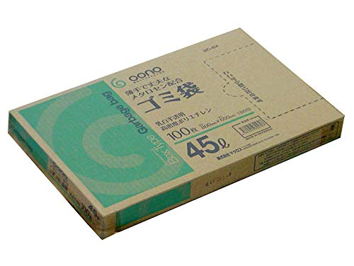 Goono ゴミ袋 乳白半透明 45リットル 800枚(100枚×8)