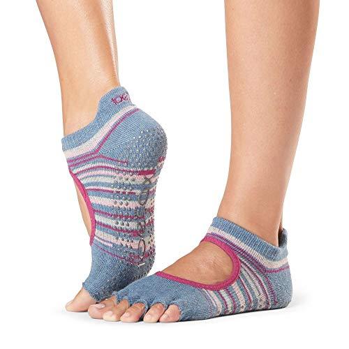 ToeSox Bellarina - Calcetines de media punta para mujer, gitano, tamaño mediano