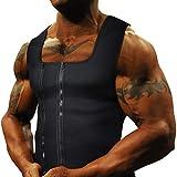 Goldenstarsport Neoprene Sweat Vest for Men Waist Trainer Vest Adjustable with Double Zipper Sauna Suit for Men (X-Large, Black)