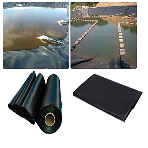 Pond Skin Pond Liner, 20 mil 5 'x 10' Pond Skins Liner Black HDPE Pond Liner for Small Fish Ponds, Koi Ponds, Streams Fountains and Water Gardens