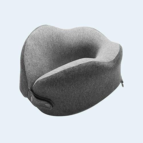 Cojines para sofá,Cojín Trasero Algodón en Forma de U Ayuda 3D de la Almohadilla del Cuello portátil Transpirable de Onda de la Almohadilla Suave Inicio Ofiice Viajes Memoria del Rebote Lento