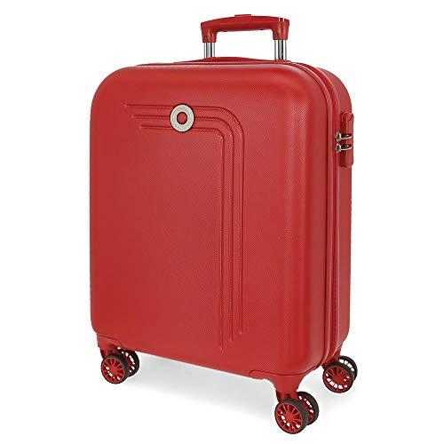Movom Riga Maleta de Cabina Rojo 40x55x20 cms Rígida ABS Cierre combinación 37L 2,8Kgs 4 Ruedas Dobles Equipaje de Mano