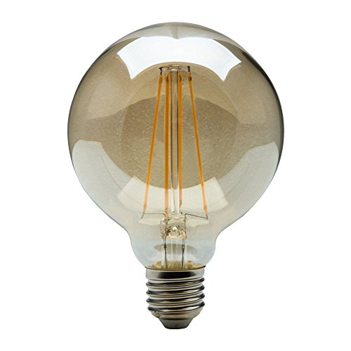 Heitronic LED Leuchtmittel Vintage Filament E27, 4W, warmweiß, G95 EEK: A++