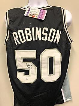 David Robinson San Antonio Spurs Signed Autograph Custom Jersey JSA Certified