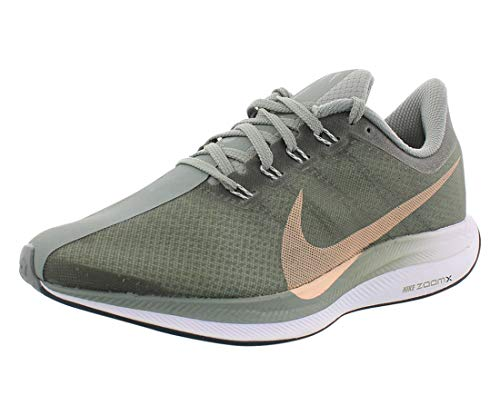 Nike W Zoom Pegasus 35 Turbo, Chaussures de Running Compétition Femme, Multicolore (Mica Green/Light Silver/Crimson Tint 300), 38 EU