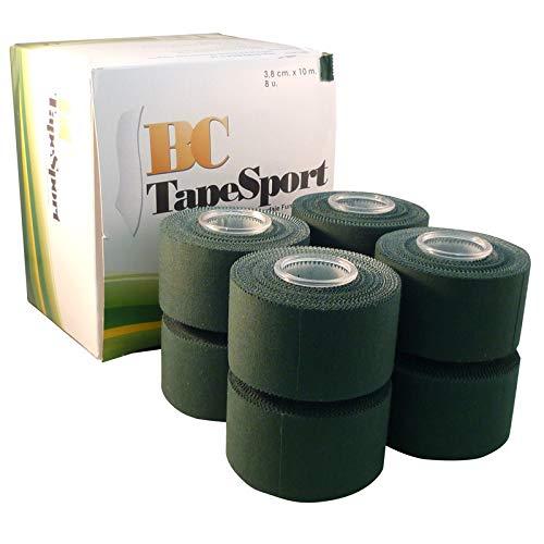 BC Sport Tape Caja de 8 rollos 3,8 cm x 10 m (Verde)